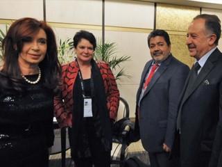 Genocida Gerardo Martínez con Cristina Fernández y Hugo Yasky