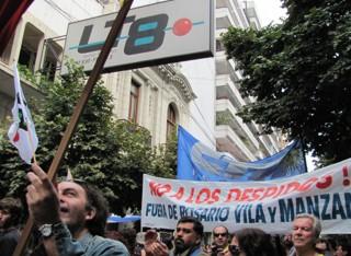 Marcha por trabajadores de prensa