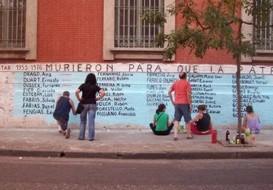 Mural de ex presos políticos