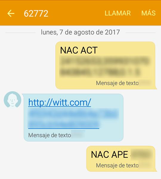 SMS de WITT