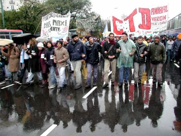Fotos de la marcha. ...