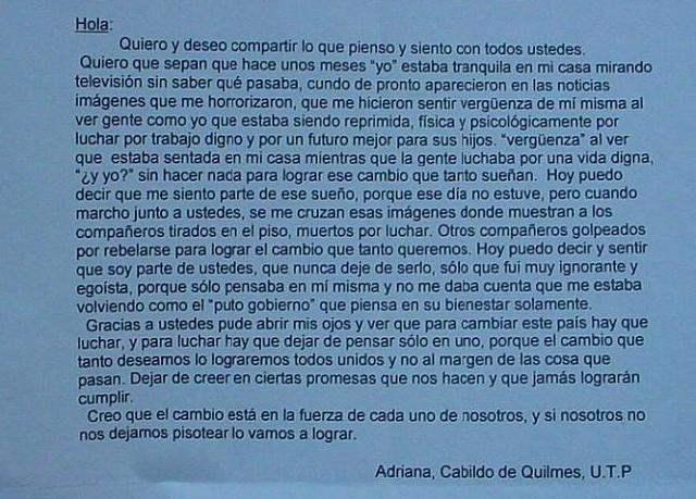 Carta para leer...
