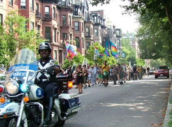 La marcha en Boston ...