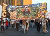 Movilizaci�n por el 12 de Octubre en Per�