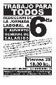 Declaraci�n del Movimiento por la Reducci�n de la Jornada Laboral a 6hs. y Aumento General