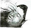 En la foto en color se lo ve a Vergara vivo poco antes de su muerte.
