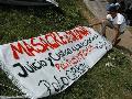 Jornada de lucha nacional en Rosario - 2: piquete en Circunvalación y Ayacucho