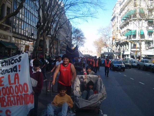 Marcha del MTE...