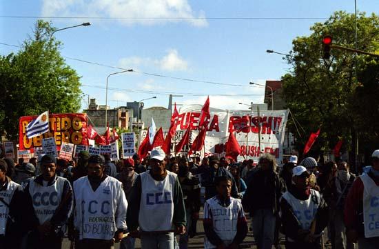 Marcha, Represión y ...