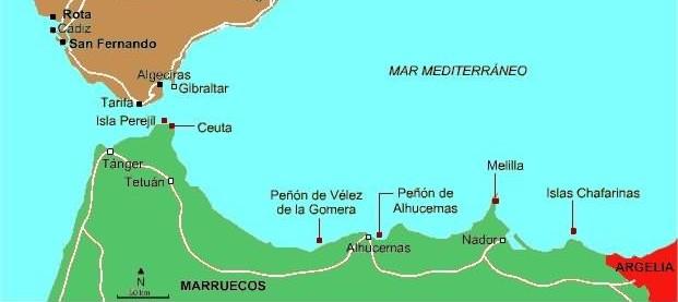Mapa Marruecos Ceuta Y Melilla.Ceuta Y Melilla Mapa Espana