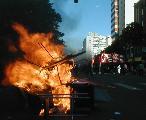 Violencia f�sica contra locales de multinacionales - Mar del Plata