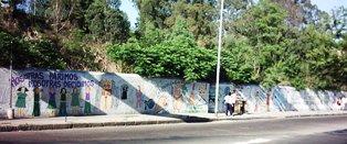 Panorámica del mural...