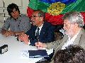 Fotos y audios de la conferencia de prensa de Pascual Pich�n Collonao en Buenos Aires