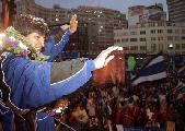 El l�der antiimperialista boliviano Evo Morales se perfila como nuevo presidente de la rep