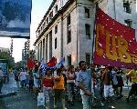 Rosario: Fotos de la marcha por la libertad de Chacho Berrozpe y Cristian Ruiz