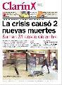 """""""La crisis caus� 2 nuevas muertes"""" Tapa de Clar�n 27 de junio de 2002"""