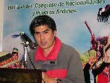Coordinacion Mapuche en conformaci�n de Coordinadora de Pueblos Ind�genas Andinos