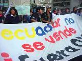 Marcha contra el TLC ecuador