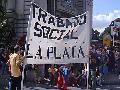 En La Plata, antes de la marcha del 24