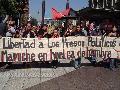 Santiago de Chile: Marcha de apoyo a los presos pol�ticos mapuche en huelga de hambre