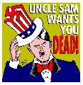 Uncle Sam wants you DEAD! (by Latuff)