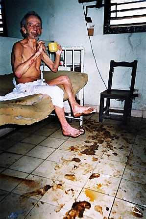 Paciente cubano hosp...