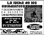 "08/06- 21 horas-Video-Conferencia: ""La lucha de los estudiantes chilenos"""