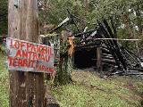 Alambre y fuego en la comunidad Mapuche Paichil Antriao
