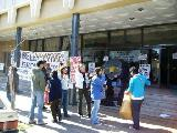 Cba/ Trabajadores en Huega de Hambre en la puerta del Ministerio de Trabajo