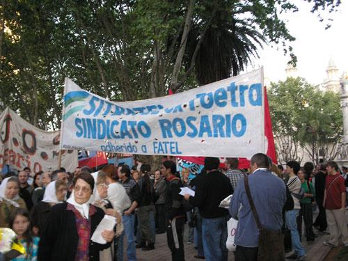 En Plaza 25 de Mayo...