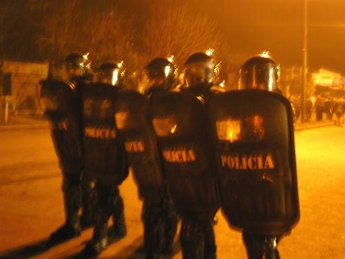 Represi�n policial a...