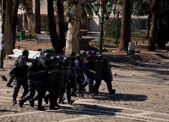 Policias, en acción...