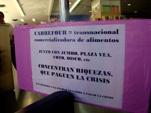 Escrache a Carrefour...