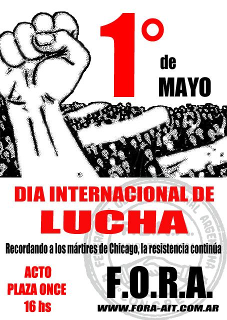 Acto 1 de mayo de la f o r a argentina indymedia i for Gimnasio 1 de mayo
