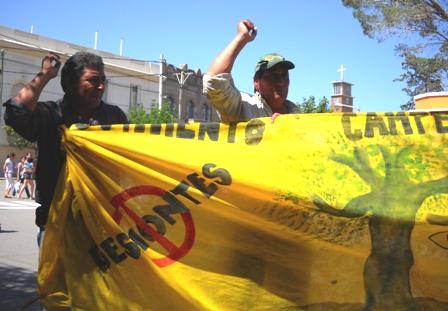 Manifestación de apoyo a Ramona Bustamante en la Ciudad de Deán Funes, Córdoba