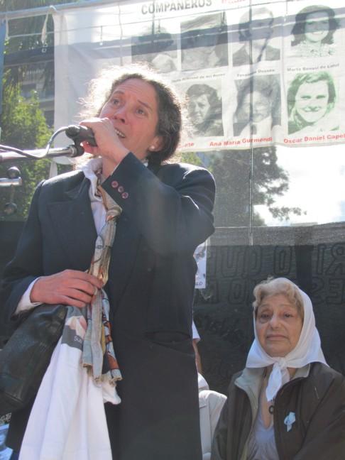 Olga Moyano, víctima...