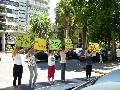 Actividad realizada en apoyo a los juicios a los genocidas