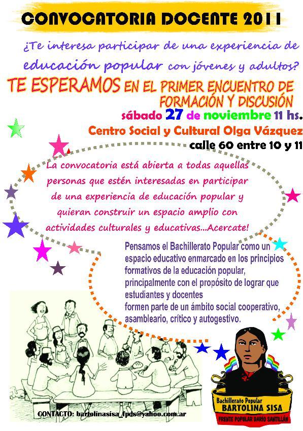 Convocatoria docente 2011 argentina indymedia i for Convocatoria docente