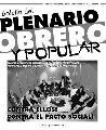 Bolet�n del plenario obrero y popular - Nro 10