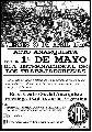 Acto Anarquista por el 1� de Mayo (29 de Abril - 19hs.)