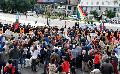 Imagenes del levantamiento el corte de la 9 de Julio de la comunidad qom La Primavera