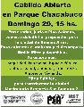 Cabildo abierto con Pino Solanas en Parque Chacabuco