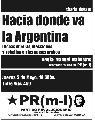 Charla debate este jueves / Hacia donde va la Argentina
