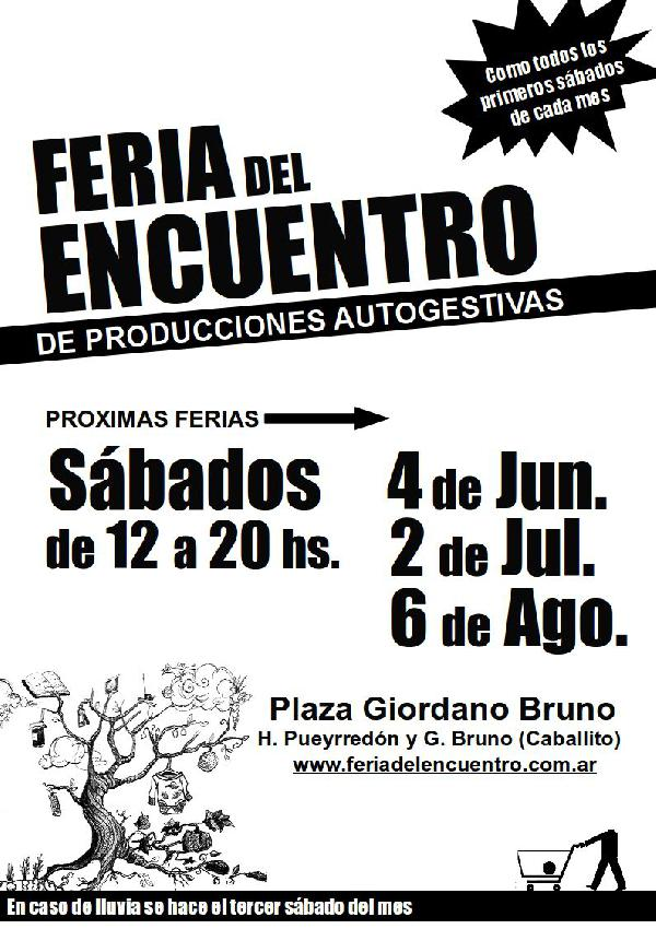 Feria del encuentro s bado 7 de mayo de 12 a 20 hs for Proximas ferias en barcelona