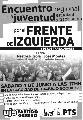 Encuentro de la Juventud por el Frente de Izquierda, en La Plata