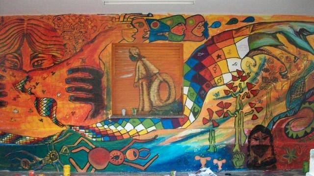 Murales en carne viva argentina indymedia i for Mural zapatista