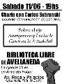Sabado 11/06 - Charla Debate: Anarquismo y Lucha de Clases en la Actualidad