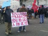 Trabajadores/as cooperativistas se movilizaron para reclamar aumento de salarios