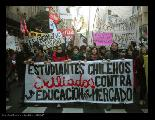 Marcha en solidaridad con el pueblo chileno por educaci�n estatal, p�blica, gratuita...