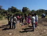 La A.P.G. realizo por sus propios medios un relevamiento de familias Guaran�